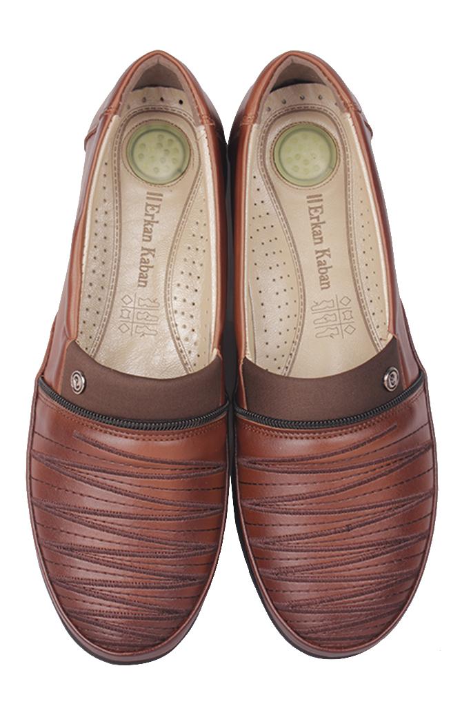 Fitbas 155045 167 Kadın Taba Günlük Büyük Numara Ayakkabı