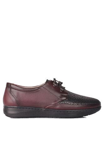 Fitbas 155061 624 Kadın Bordo Günlük Büyük Numara Ayakkabı
