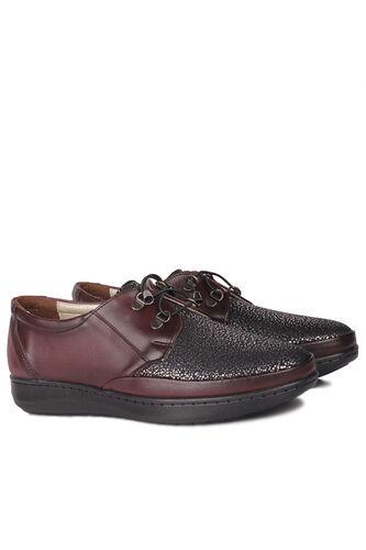 Fitbas - Fitbas 155061 624 Kadın Bordo Günlük Büyük Numara Ayakkabı (1)
