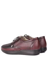 Fitbas 155061 624 Kadın Bordo Günlük Büyük Numara Ayakkabı - Thumbnail