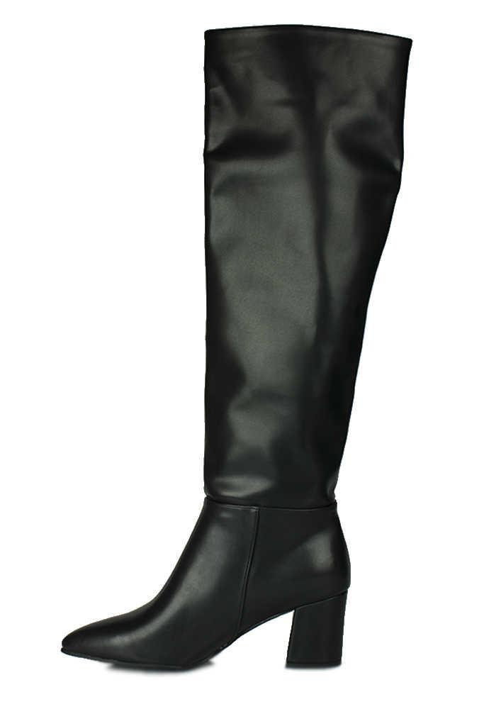 Fitbas 377900 014 Kadın Siyah Mat Büyük & Küçük Numara Çizme
