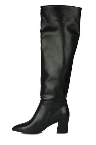 Fitbas - Fitbas 377900 014 Kadın Siyah Mat Büyük & Küçük Numara Çizme (1)