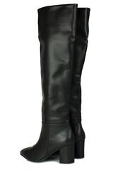 Fitbas 377900 014 Kadın Siyah Mat Büyük & Küçük Numara Çizme - Thumbnail