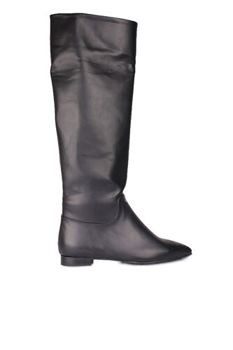 Fitbas - Fitbas 377906 014 Kadın Siyah Mat Büyük Numara Çizme (1)