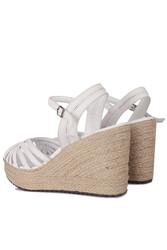 Fitbas 4389 468 Kadın Beyaz Büyük & Küçük Numara Sandalet - Thumbnail