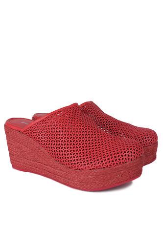 Fitbas - Fitbas 4419 524 Kadın Kırmızı Sabo Büyük & Küçük Numara Terlik (1)
