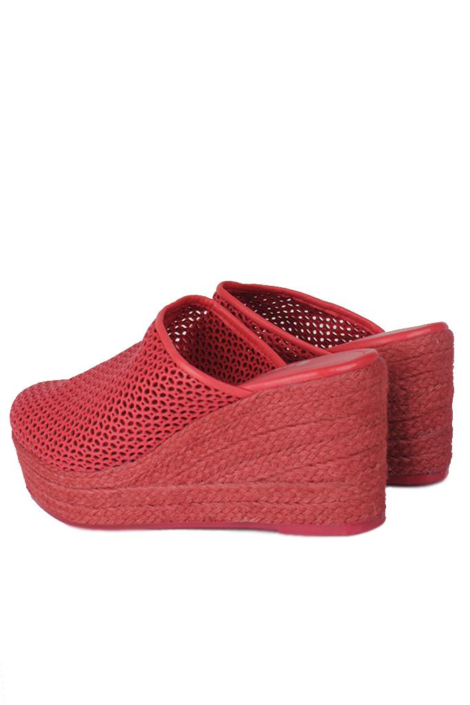 Fitbas 4419 524 Kadın Kırmızı Sabo Büyük & Küçük Numara Terlik