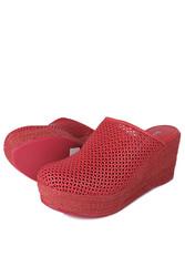 Fitbas 4419 524 Kadın Kırmızı Sabo Büyük & Küçük Numara Terlik - Thumbnail