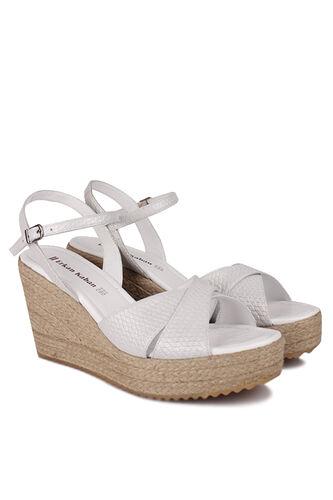 Fitbas - Fitbas 5044 471 Kadın Beyaz Büyük & Küçük Numara Sandalet (1)