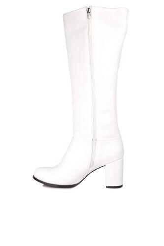 Fitbas - Fitbas 522801 465 Kadın Beyaz Büyük & Küçük Numara Çizme (1)