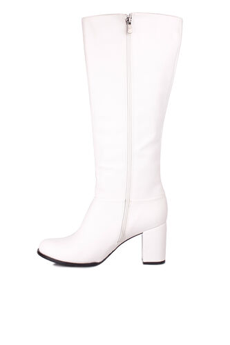 Fitbas - Fitbas 522801 468 Kadın Beyaz Büyük & Küçük Numara Çizme (1)