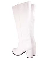 Fitbas 522801 468 Kadın Beyaz Büyük & Küçük Numara Çizme - Thumbnail