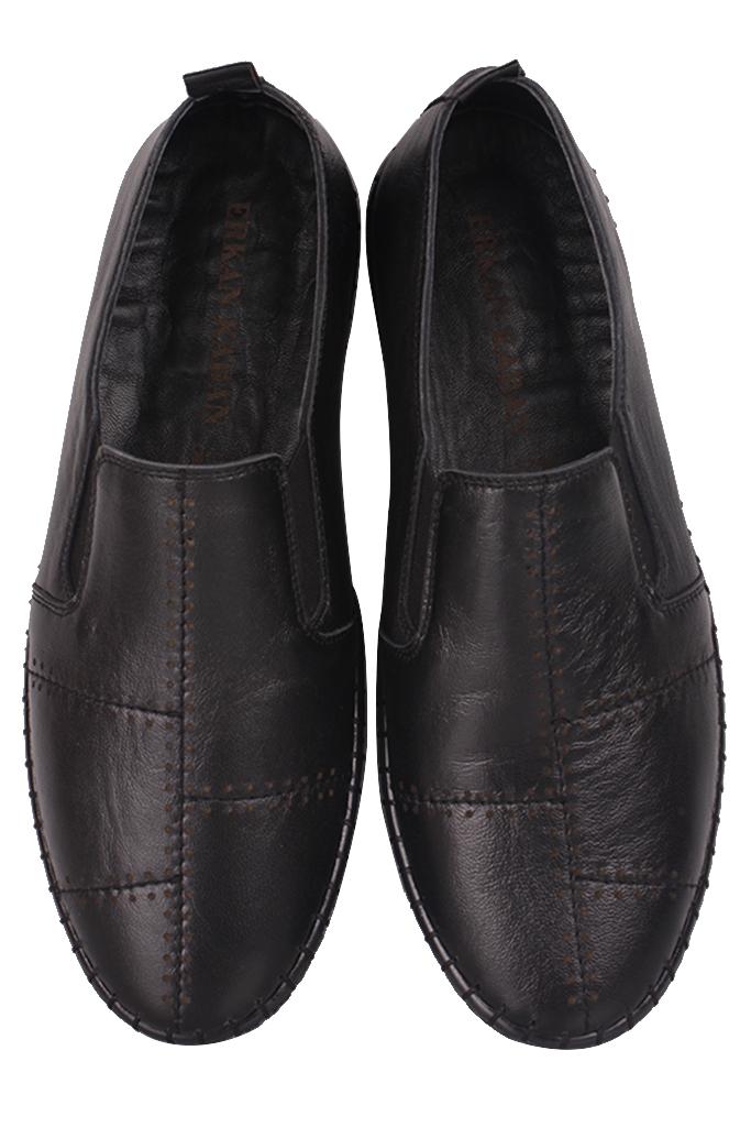 Fitbas 625051 014 Kadın Siyah Deri Günlük Büyük Numara Ayakkabı