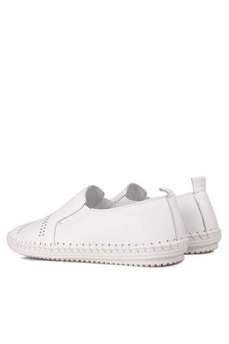 Fitbas - Fitbas 625051 468 Kadın Beyaz Deri Günlük Büyük Numara Ayakkabı (1)