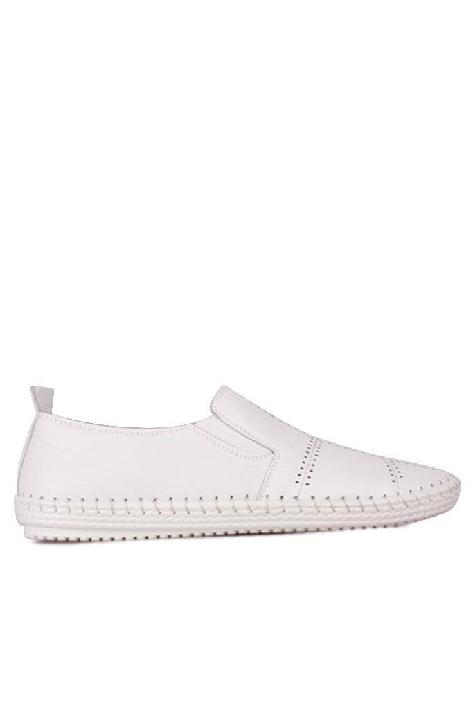 Fitbas 625051 468 Kadın Beyaz Deri Günlük Büyük Numara Ayakkabı