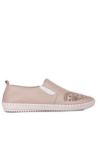 Fitbas - Fitbas 625052 724 Kadın Pudra Deri Günlük Büyük Numara Ayakkabı (1)