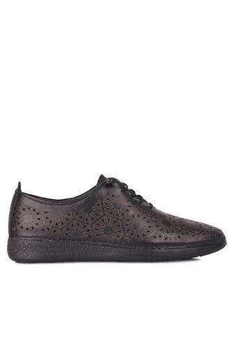 Fitbas - Fitbas 625115 014 Kadın Siyah Deri Günlük Büyük Numara Ayakkabı (1)