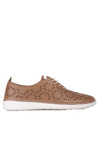 Fitbas - Fitbas 625115 162 Kadın Taba Deri Günlük Büyük Numara Ayakkabı (1)