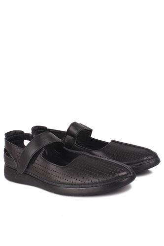 Fitbas - Fitbas 625118 014 Kadın Siyah Deri Günlük Büyük Numara Ayakkabı (1)