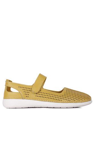 Fitbas - Fitbas 625118 124 Kadın Sarı Deri Günlük Büyük Numara Ayakkabı (1)