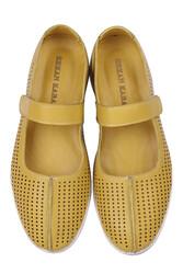 Fitbas 625118 124 Kadın Sarı Deri Günlük Büyük Numara Ayakkabı - Thumbnail