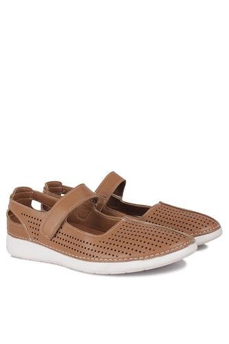 Fitbas - Fitbas 625118 162 Kadın Taba Deri Günlük Büyük Numara Ayakkabı (1)