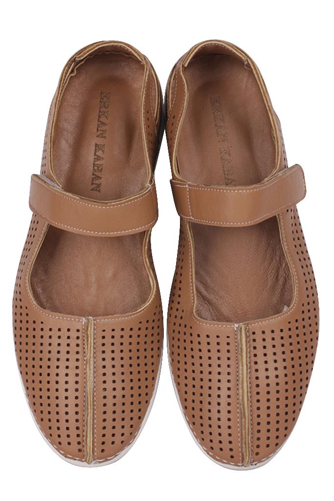Fitbas 625118 162 Kadın Taba Deri Günlük Büyük Numara Ayakkabı