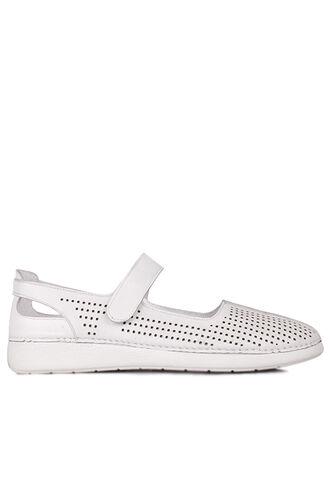 Fitbas - Fitbas 625118 468 Kadın Beyaz Deri Günlük Büyük Numara Ayakkabı (1)