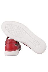 Fitbas 625118 524 Kadın Kırmızı Deri Günlük Büyük Numara Ayakkabı - Thumbnail