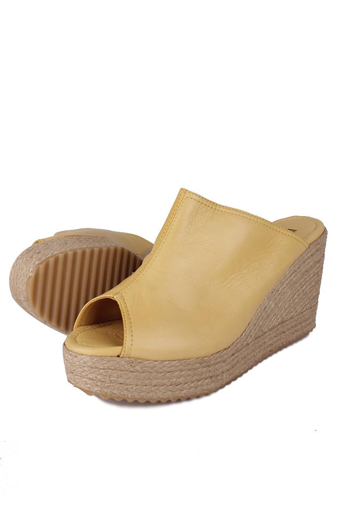 Fitbas 6948 125 Kadın Sarı Terlik Büyük & Küçük Numara Terlik