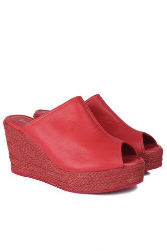 Fitbas - Fitbas 6948 524 Kadın Kırmızı Terlik Büyük & Küçük Numara Terlik_ (1)
