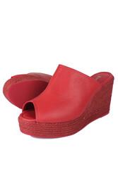 Fitbas 6948 524 Kadın Kırmızı Terlik Büyük & Küçük Numara Terlik_ - Thumbnail