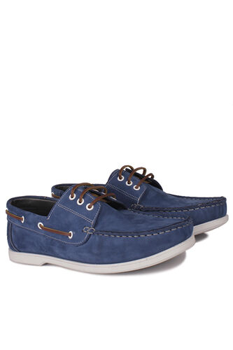 Fitbas - Fitbas 737001 405 Erkek Mavi Nubuk Günlük Büyük Numara Ayakkabı (1)