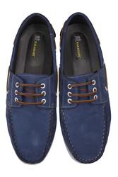 Fitbas 737001 405 Erkek Mavi Nubuk Günlük Büyük Numara Ayakkabı - Thumbnail