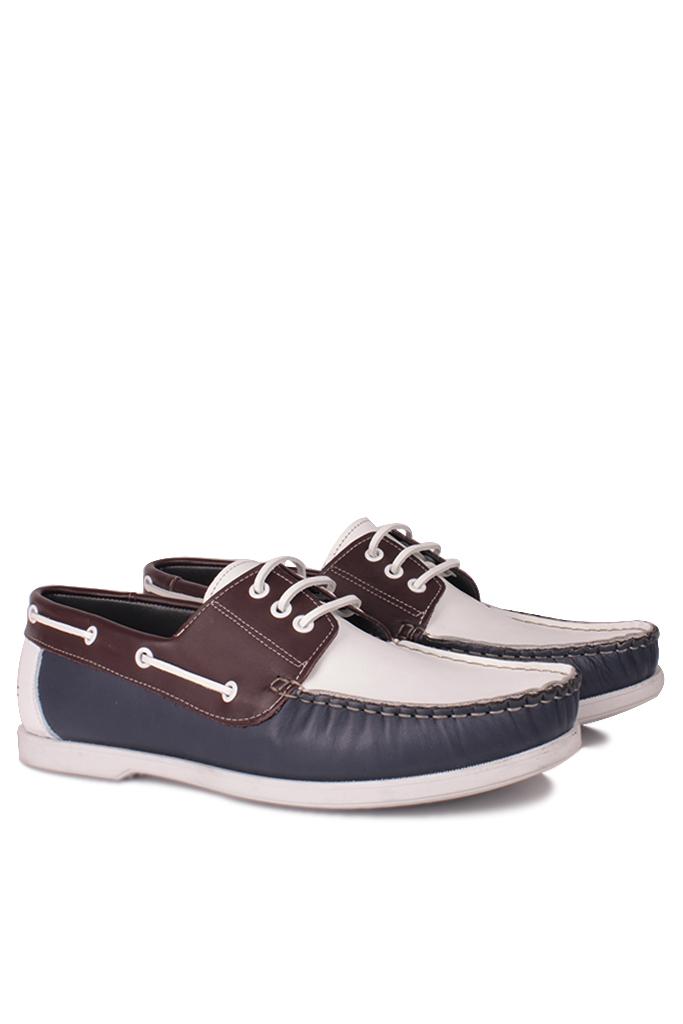 Fitbas 737001 456 Erkek Lacivert Beyaz Kahve Günlük Büyük Numara Ayakkabı