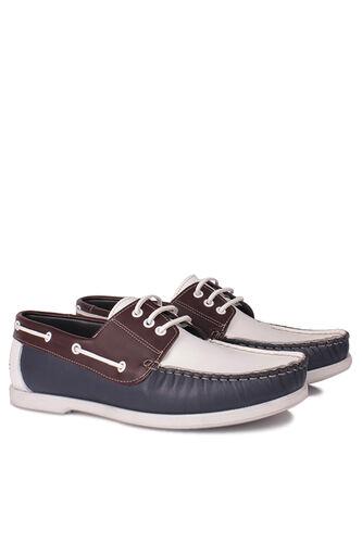 Fitbas - Fitbas 737001 456 Erkek Lacivert Beyaz Kahve Günlük Büyük Numara Ayakkabı (1)