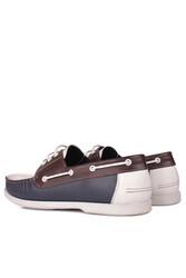 Fitbas 737001 456 Erkek Lacivert Beyaz Kahve Günlük Büyük Numara Ayakkabı - Thumbnail