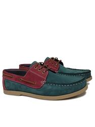 Fitbas 737001 618 Erkek Yeşil Bordo Günlük Büyük Numara Ayakkabı - Thumbnail