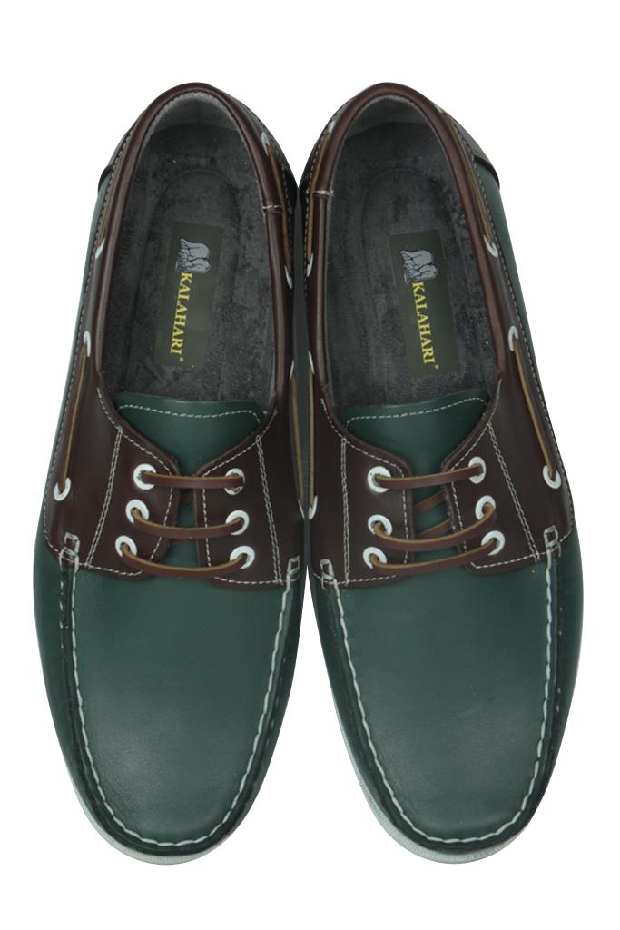 Fitbas 737001 672 Erkek Yeşil Kahve Günlük Büyük Numara Ayakkabı