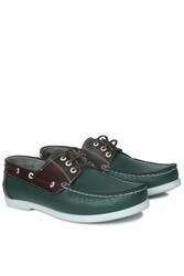Fitbas 737001 672 Erkek Yeşil Kahve Günlük Büyük Numara Ayakkabı - Thumbnail