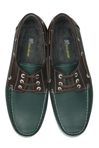 Fitbas - Fitbas 737001 672 Erkek Yeşil Kahve Günlük Büyük Numara Ayakkabı (1)