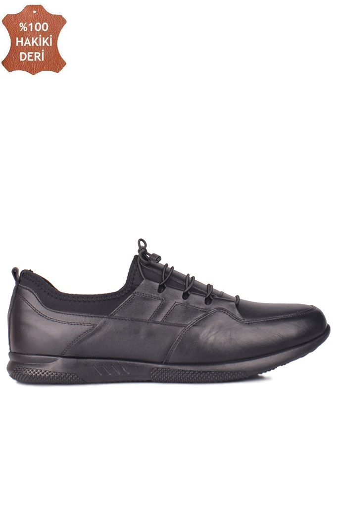 Fitbas 914101 014 Erkek Siyah Deri Büyük Numara Ayakkabı