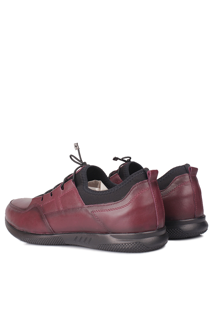 Fitbas 914101 624 Erkek Bordo Deri Büyük Numara Ayakkabı