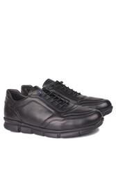 Fitbas 914103 014 Erkek Siyah Deri Büyük Numara Ayakkabı - Thumbnail