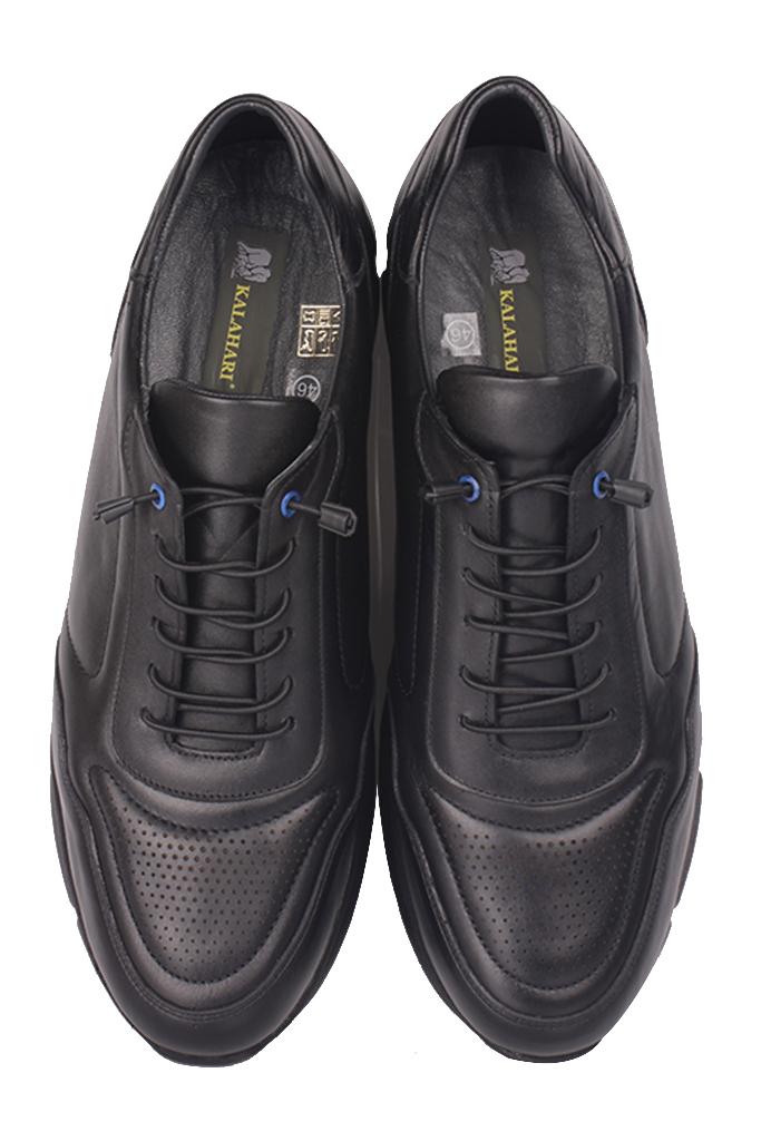 Fitbas 914103 014 Erkek Siyah Deri Büyük Numara Ayakkabı