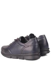 Fitbas 914103 424 Erkek Lacivert Deri Büyük Numara Ayakkabı - Thumbnail