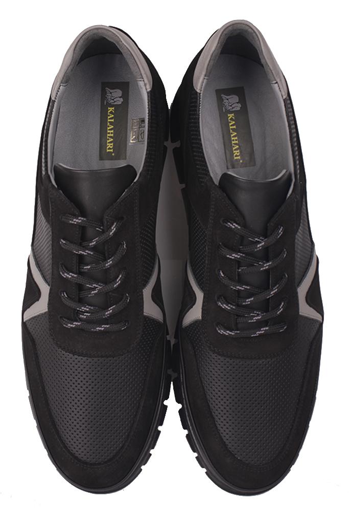 Fitbas 914352 015 Erkek Siyah Deri Büyük Numara Ayakkabı