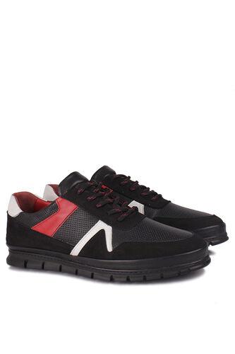 Fitbas - Fitbas 914352 059 Erkek Siyah Deri Büyük Numara Ayakkabı (1)