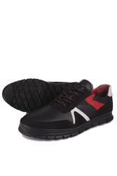 Fitbas 914352 059 Erkek Siyah Deri Büyük Numara Ayakkabı - Thumbnail