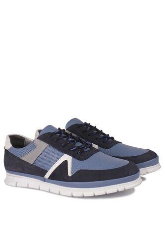 Fitbas - Fitbas 914352 438 Erkek Mavi Deri Büyük Numara Ayakkabı (1)